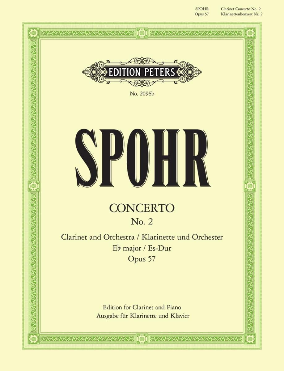 Louis Spohr - Concierto para clarinete No. 2 Eb major op. 57 - Partition - di-arezzo.es