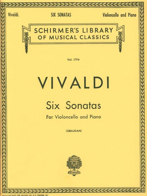 VIVALDI - 6 Sonates - Violoncelle - Partition - di-arezzo.fr