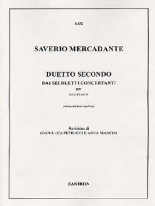 Duetto Secondo - 2 Flauti - Saverio Mercadante - laflutedepan.com