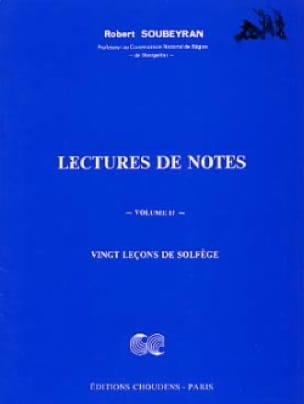 Robert Soubeyran - Reading notes - Volume 2 - Partition - di-arezzo.co.uk