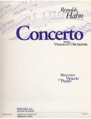 Reynaldo Hahn - Violin Concerto - Partition - di-arezzo.co.uk