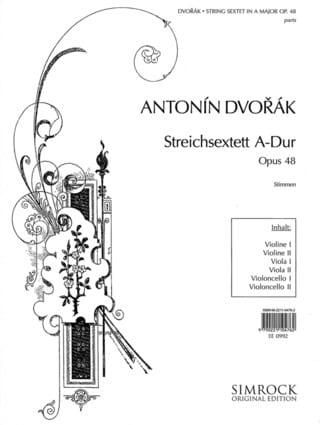 Streichsextett A-Dur op. 48 -Stimmen - DVORAK - laflutedepan.com