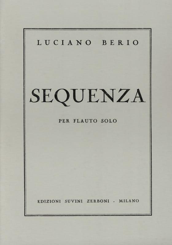 Sequenza I -Flauto solo - BERIO - Partition - laflutedepan.com