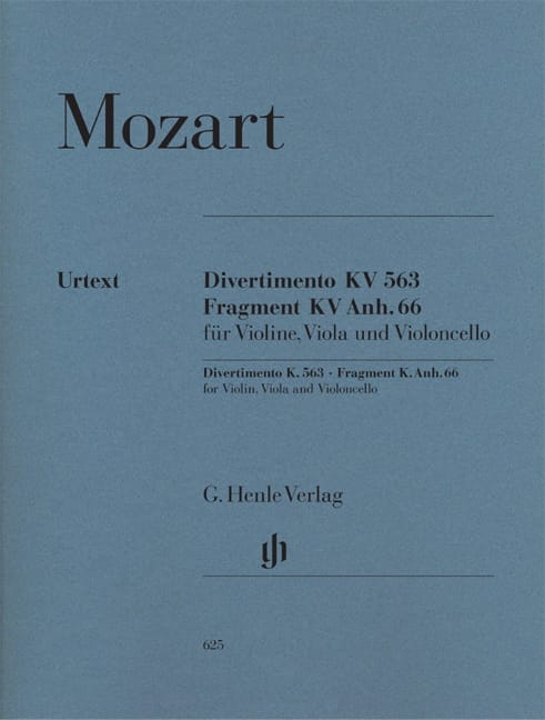 MOZART - Divertimento KV 563 · Fragment KV Anh. 66 - Partition - di-arezzo.co.uk
