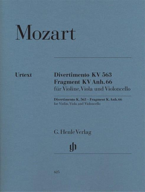 MOZART - Divertimento KV 563 · Fragment KV Anh. 66 - Partition - di-arezzo.com
