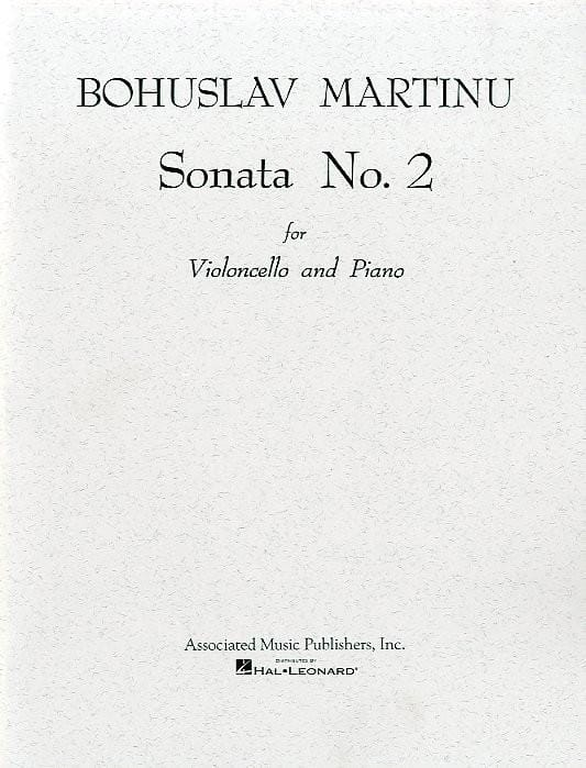 Bohuslav Martinu - Sonata No. 2 - Cello - Partition - di-arezzo.co.uk