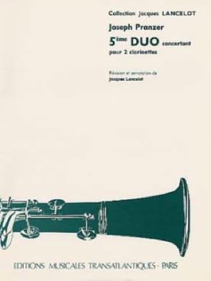 Joseph Pranzer - 5th concerto duo for 2 clarinets - Partition - di-arezzo.co.uk