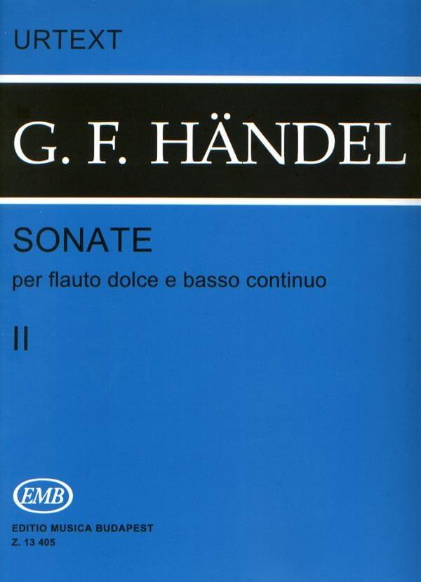 HAENDEL - Sonatas - Volume 2 - Flauto dolce e bc - Partition - di-arezzo.co.uk