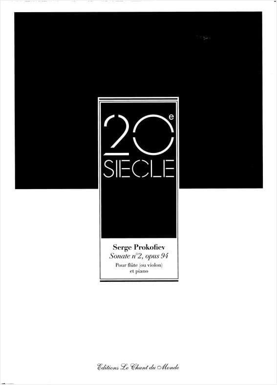 Serge Prokofiev - Sonata No. 2 op. 94 - Piano flute - Partition - di-arezzo.co.uk
