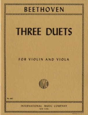 BEETHOVEN - 3 Duets - Violin viola - Partition - di-arezzo.co.uk