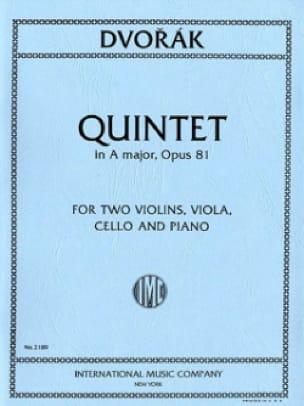 DVORAK - Quinteto en la mayor op. 81 - Piezas - Partition - di-arezzo.es