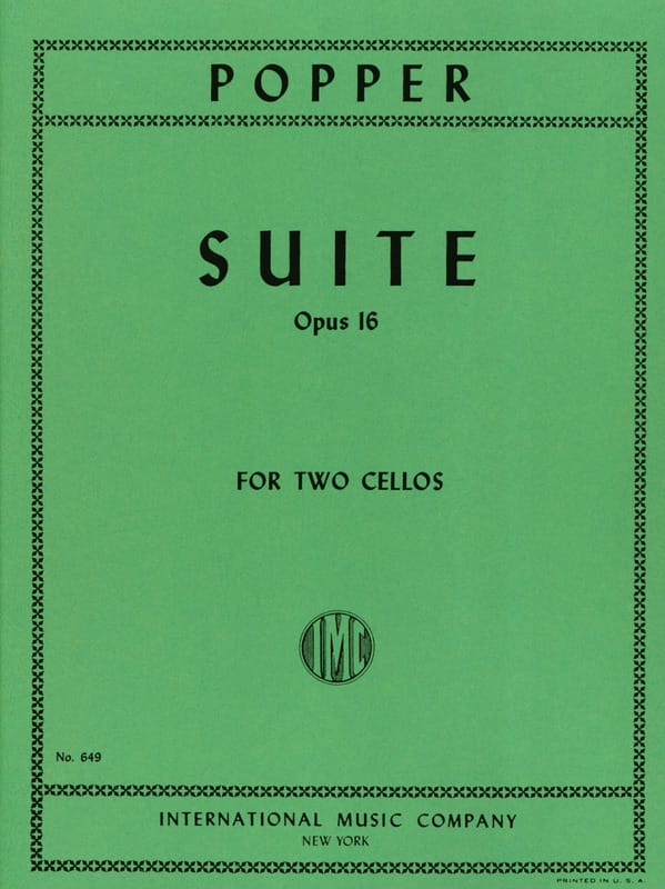 David Popper - Suite op. 16 - Violoncelos - Partition - di-arezzo.es
