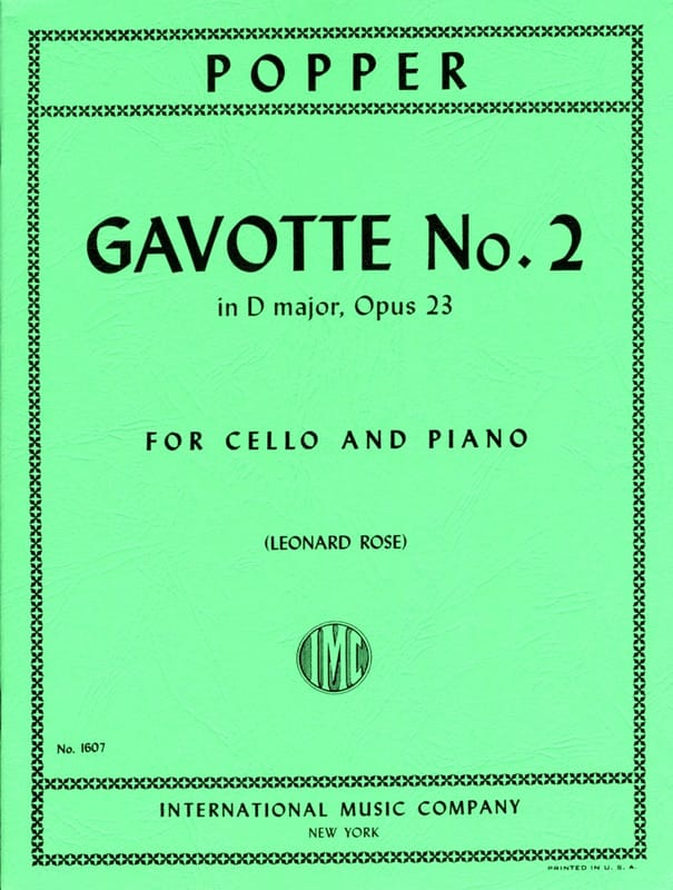 David Popper - Gavotte No. 2 in D major op. 23 - Partition - di-arezzo.co.uk