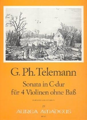 TELEMANN - Sonata in C Maj. Or Concerto Twv 40: 203 - Partition - di-arezzo.co.uk