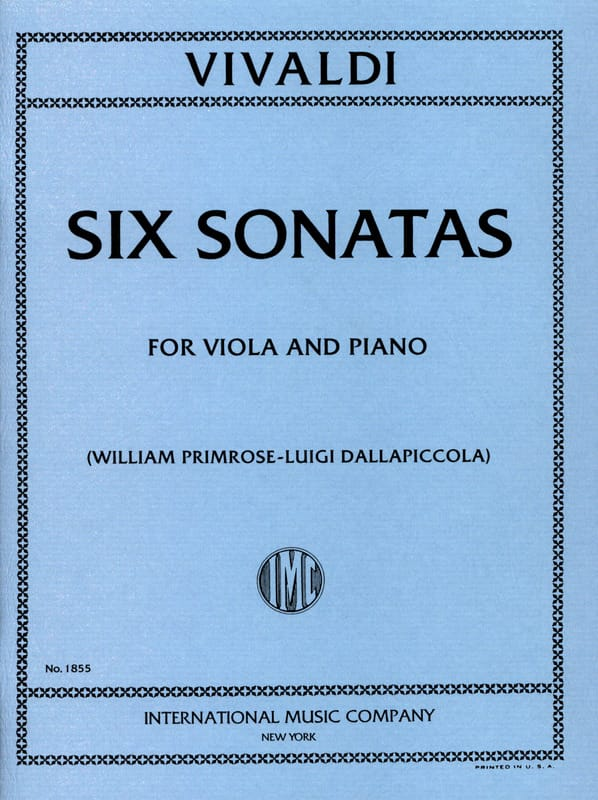 VIVALDI - 6 Sonatas - Viola - Partition - di-arezzo.co.uk