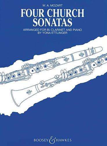 MOZART - Four church sonatas - Partition - di-arezzo.co.uk