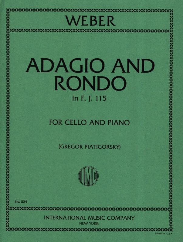 Carl Maria Von Weber - Adagio and Rondo in F, J. 115 - Cello - Partition - di-arezzo.co.uk