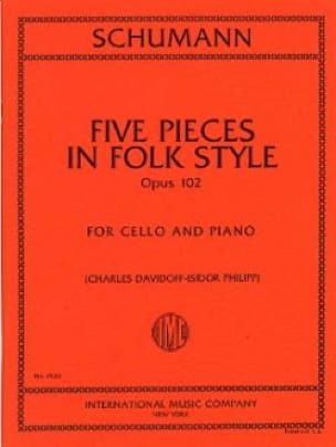 SCHUMANN - 5 Pieces in Folk Style op. 102 - Partition - di-arezzo.fr