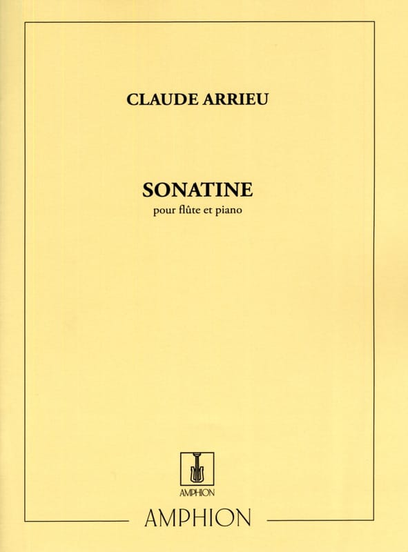 Claude Arrieu - Sonatine - Partition - di-arezzo.co.uk