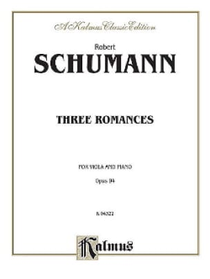 3 Romances op. 94 - SCHUMANN - Partition - Alto - laflutedepan.com