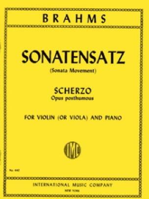 BRAHMS - Sonatensatz - Viola - Partition - di-arezzo.fr