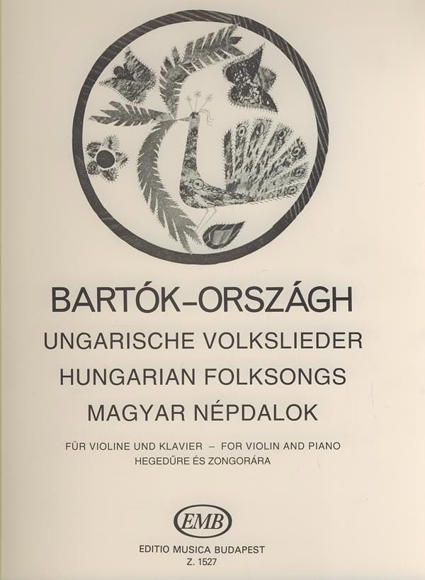 BARTOK - Ungarische Volkslieder - バイオリンクラヴィエ - Partition - di-arezzo.jp