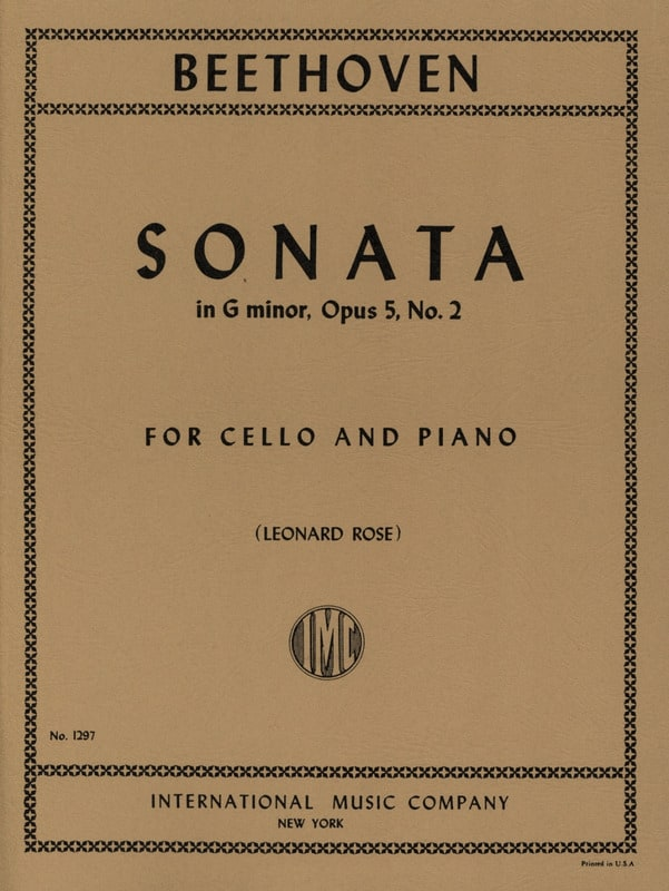 BEETHOVEN - Sonata in G minor op. 5 n° 2 - Partition - di-arezzo.fr