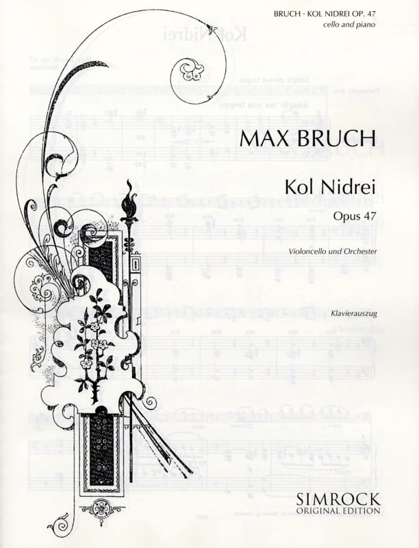 Max Bruch - Kol Nidrei op. 47 - Cello - Partition - di-arezzo.co.uk