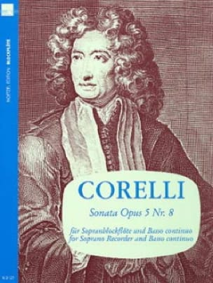 CORELLI - Sonata Op. 5 N ° 8 - Partition - di-arezzo.co.uk
