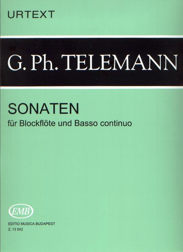 TELEMANN - Sonaten - Blockflöten u. Bc - Partition - di-arezzo.co.uk