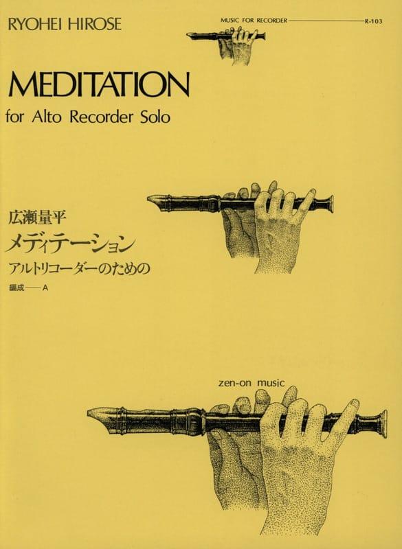 Meditation - Alto recorder solo - Ryohei Hirose - laflutedepan.com