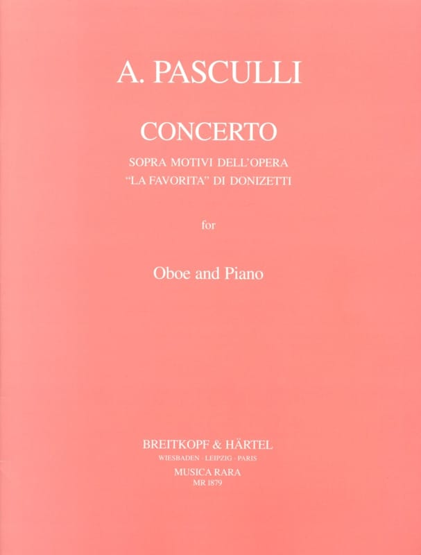 Antonino Pasculli - Concerto sopra motivi dell'opera La Favorita di Donizetti - Partition - di-arezzo.es