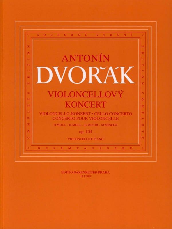 DVORAK - Cello Concerto Op. 104 - Partition - di-arezzo.co.uk