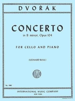 DVORAK - Cello Concerto For Minor, Op. 104 - Partition - di-arezzo.co.uk
