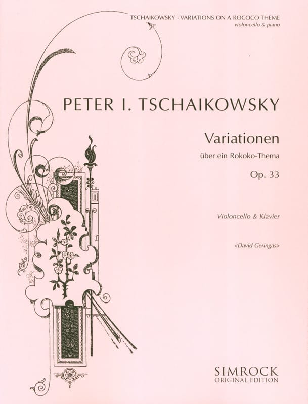 TCHAIKOVSKY - Variationen über ein Rokoko-Thema op. 33 - Partition - di-arezzo.co.uk