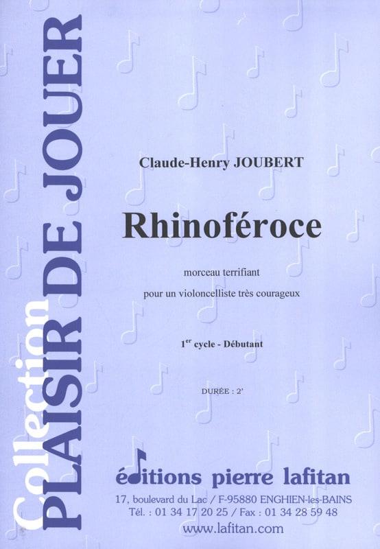 Claude-Henry Joubert - Rhinoféroce - Partition - di-arezzo.co.uk