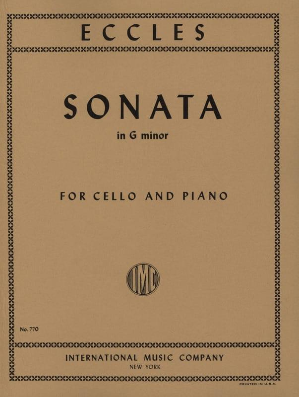 Henry Eccles - Sonata en Sol Menor - Cello - Partition - di-arezzo.es