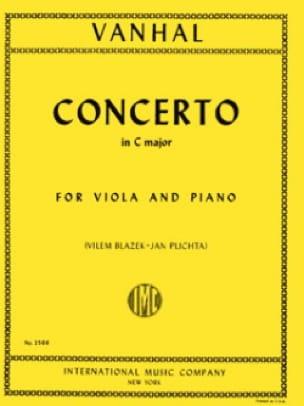 Johann Baptist Vanhal - Concierto en Do Mayor - Viola - Partition - di-arezzo.es
