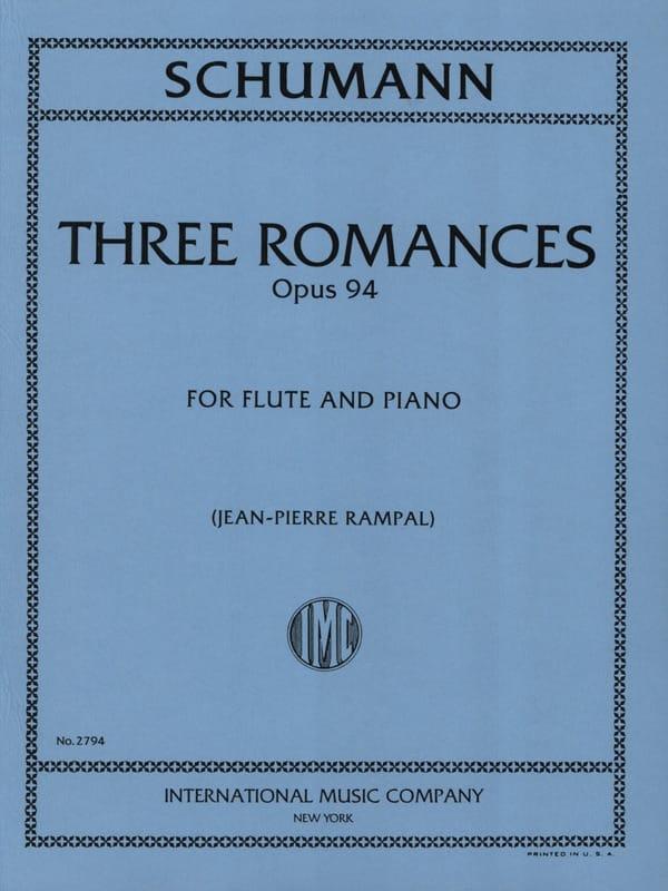 SCHUMANN - 3 Romances op. 94 - Piano flute - Partition - di-arezzo.com