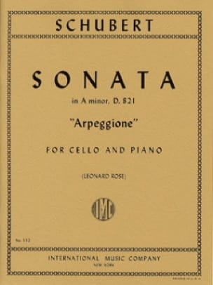 SCHUBERT - Sonata in A Minor D. 821 Arpeggione - Cello - Partition - di-arezzo.com