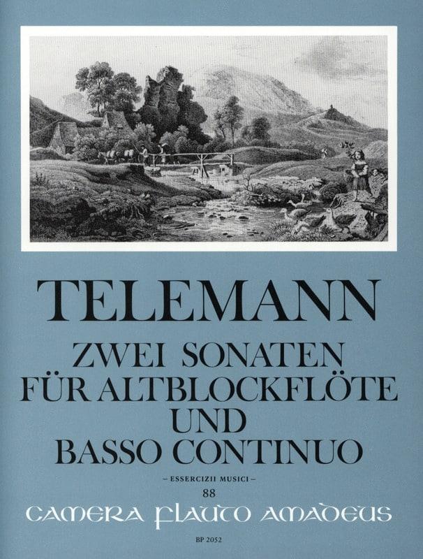 Zwei Sonaten - Altblockflöte u. Bc - TELEMANN - laflutedepan.com