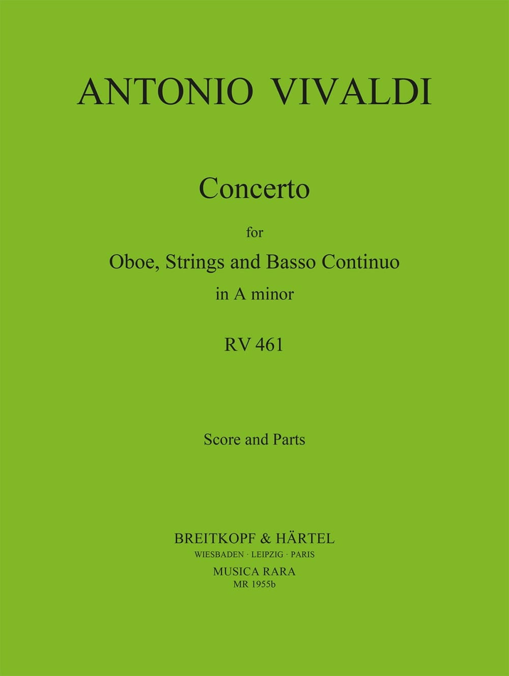 Concerto in A minor RV 461 - Oboe strings Bc - laflutedepan.com