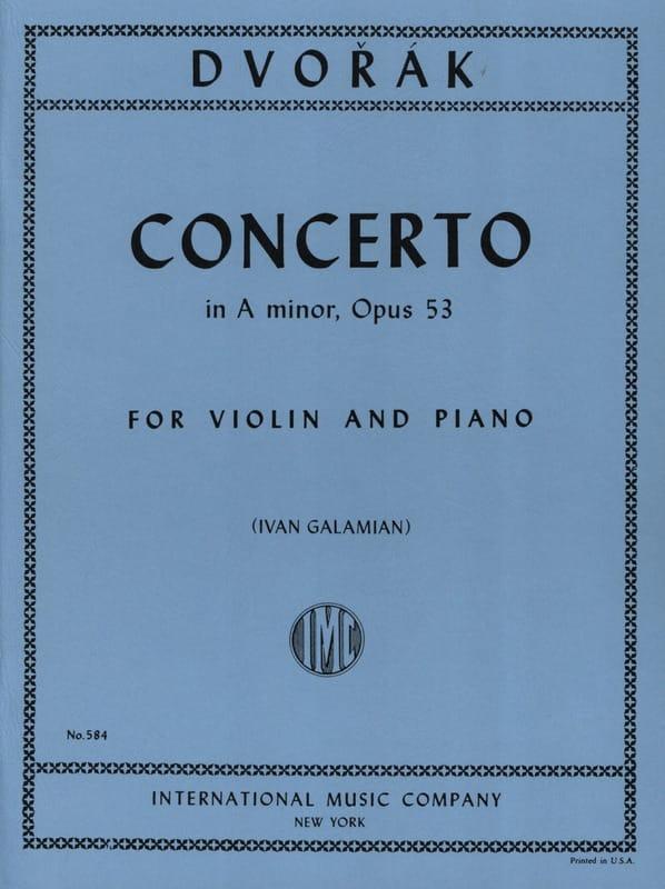 DVORAK - Concerto Violon op. 53 en la mineur - Partition - di-arezzo.fr