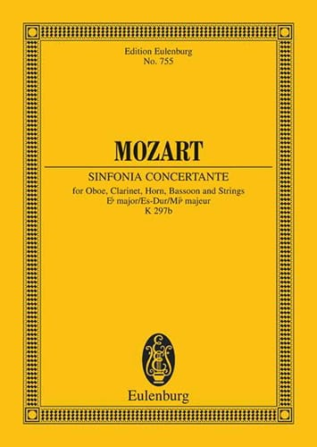 MOZART - Sinfonia Concertante Es-Dur Kv 297b - Partitur - Partition - di-arezzo.co.uk