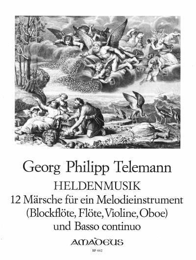 Heldenmusik - 12 Märsche - TELEMANN - Partition - laflutedepan.com