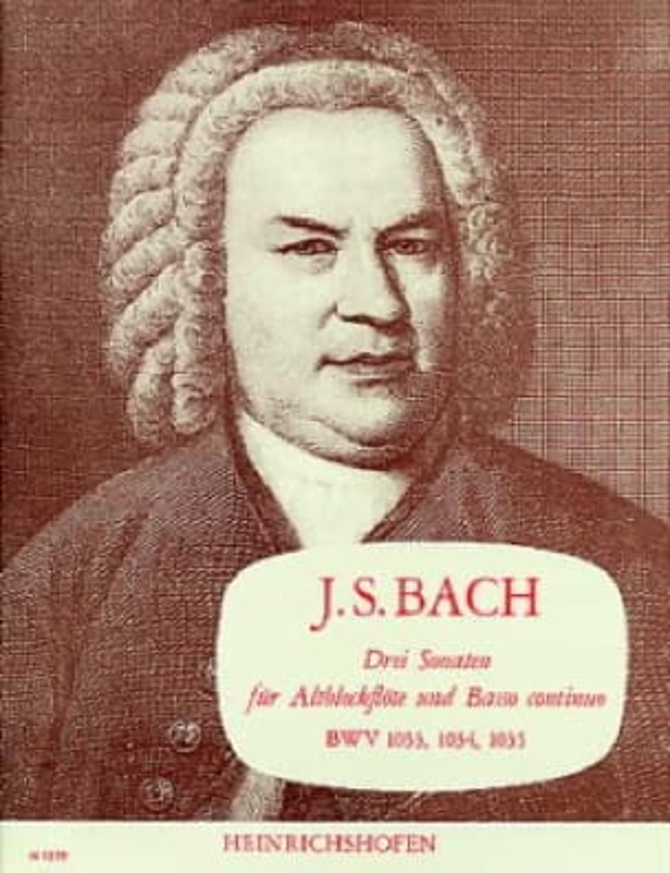 BACH - 3 Sonaten BWV 1033, 1034, 1035 - Partition - di-arezzo.com