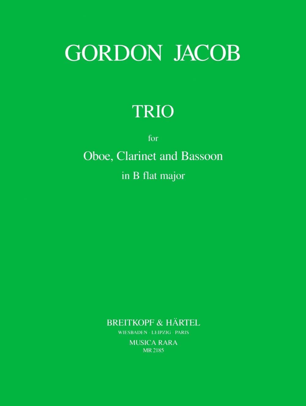 Trio - Gordon Jacob - Partition - Trios - laflutedepan.com