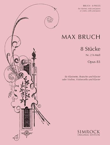Max Bruch - 8 Stücke op. 83, No. 2 h-moll - Klarinette Viola Klavier - Partition - di-arezzo.co.uk