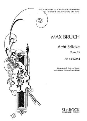 Max Bruch - 8 Stücke op. 83, no. 8 es-moll - Klarinette Viola Klavier - Partition - di-arezzo.co.uk