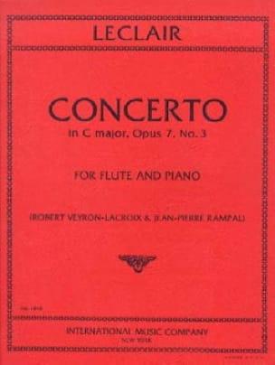 Jean-Marie Leclair - Concerto In C Major Op. 7 N ° 3 - Partition - di-arezzo.com